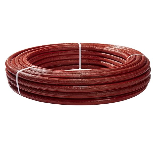 Aluverbundrohr mit roter Isolierung 16/20/26 Verbundrohr Aluverbund Mehrschichtverbundrohr DVGW Rohr