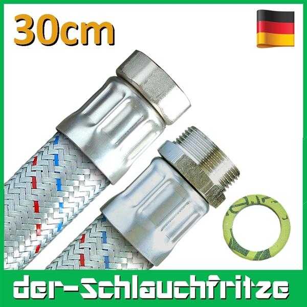 "Panzerschlauch 1 1/4""ÜM x 1 1/4""AG, Flexschlauch DN32 für Heizung"