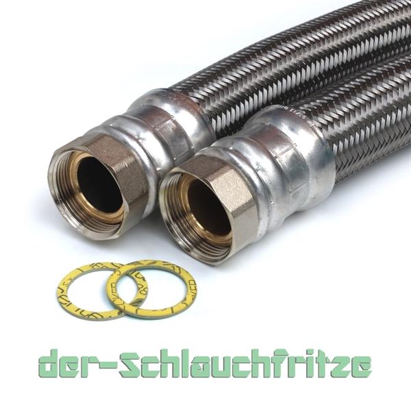 """Panzerschlauch 1 1/2""""ÜM x 1 1/2""""ÜM (DN40) für Nutzwasser"""