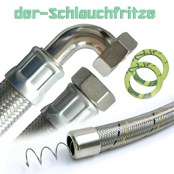 """Saugschlauch, Druckschlauch 1""""ÜM x 1""""ÜM mit 90°Bogen, Pumpenschlauch"""