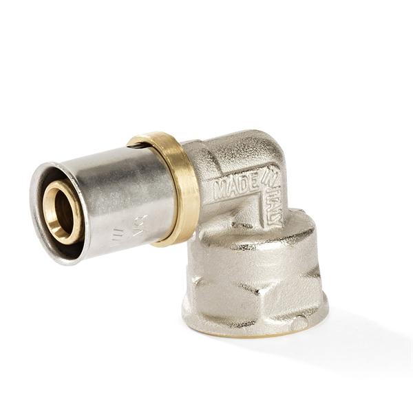 Pressfitting - Winkel 90° mit IG für Aluverbundrohr | Jetzt kaufen bei der-schlauchfritze.de