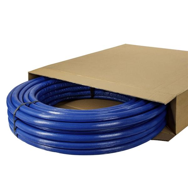 Aluverbundrohr m. blauer Isolierung 16/20/26 Verbundrohr Aluverbund Mehrschichtverbundrohr DVGW Rohr