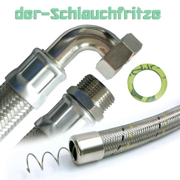 "Saugschlauch 1""AG x 1""ÜM 90°Bogen, Druckchlauch, Pumpenschlauch"