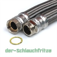 """Panzerschlauch 1 1/2""""ÜM x 1 1/2""""AG (DN40) für Nutzwasser"""