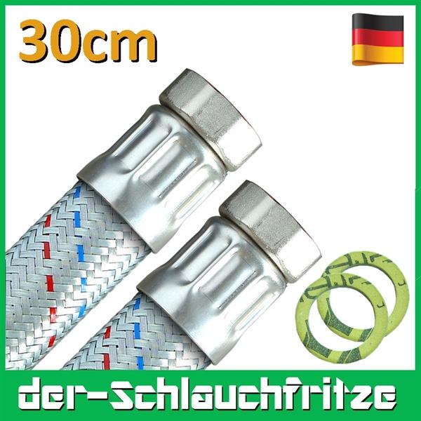 "Panzerschlauch 1 1/4""ÜM x 1 1/4""ÜM, Flexschlauch DN32 für Heizung"