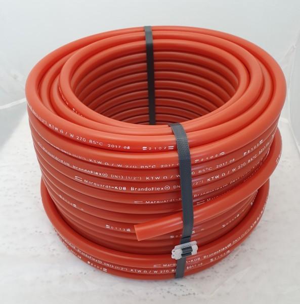Trinkwasserschlauch in rot für die mobile Trinkwasser- oder Getränkeversorgung