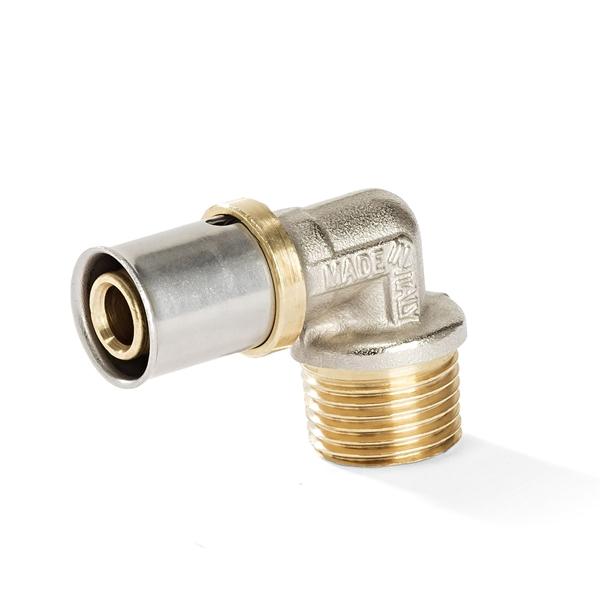 Pressfitting - Winkel 90° mit AG für Aluverbundrohr | Jetzt kaufen bei der-schlauchfritze.de
