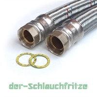 "Panzerschlauch 1 1/2""ÜM x 1 1/2""ÜM, Flexschlauch DN40 für Heizung"