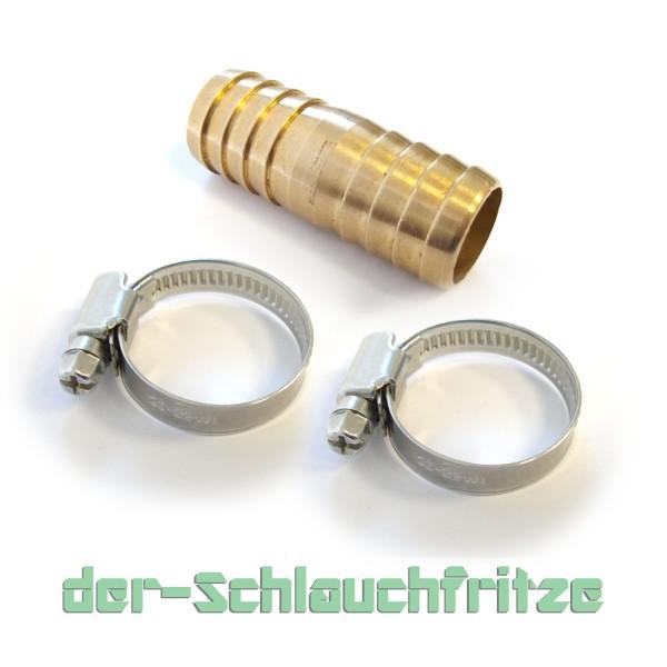 Verbindungsset 2 x Schelle und 1 x Verbinder, perfekt zum verlängern von Ablaufschläuchen