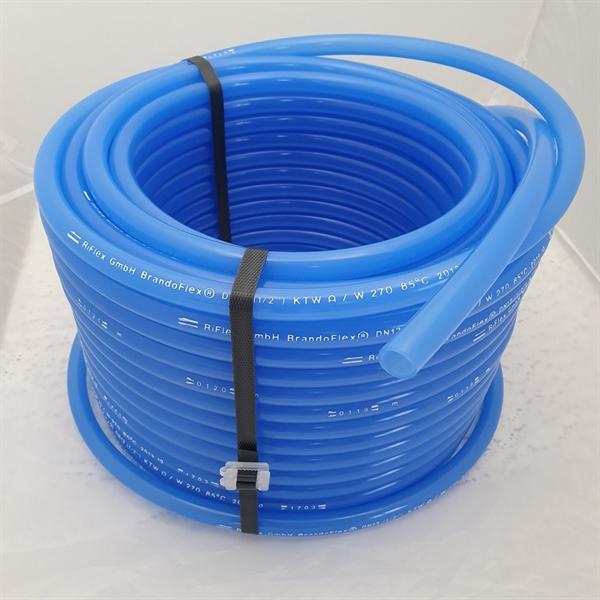 Trinkwasserschlauch in blau für die mobile Trinkwasser- oder Getränkeversorgung