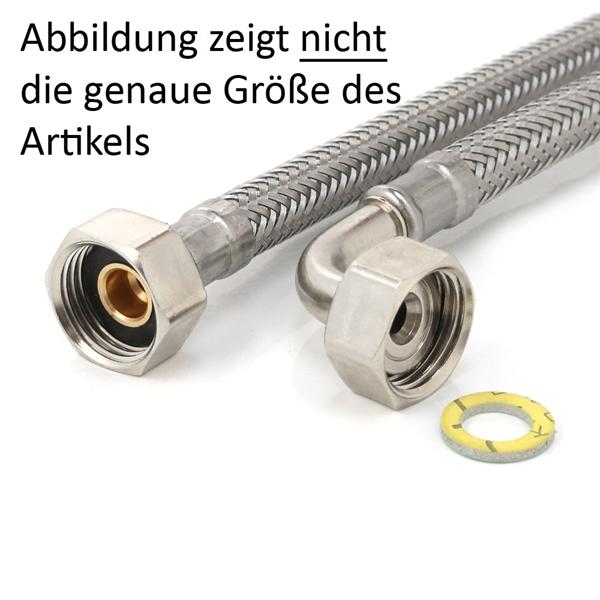 """Anfertigung Flexschlauch 3/4""""ÜM x 1/2""""ÜM Bogen, Panzerschlauch DN8 Sanitär mit DVGW-Zulassung"""